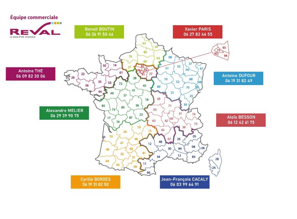 France Reval équipe commerciale